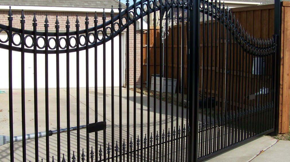 automatic iron gates