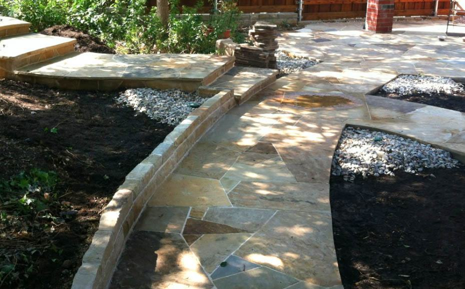 Flagstone And Concrete Patios Texas Best Fence