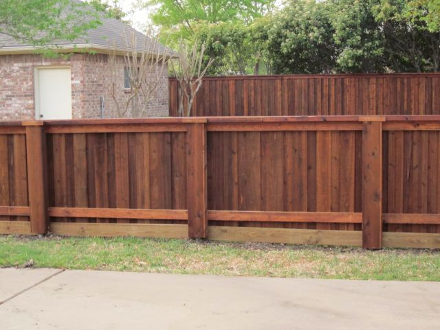 4 Foot High Board on Board Fence