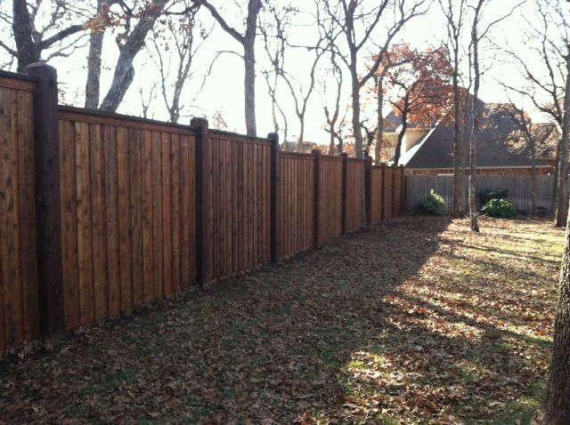 8x8 posts board on board fence
