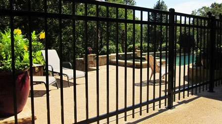 wrought iron fence picture