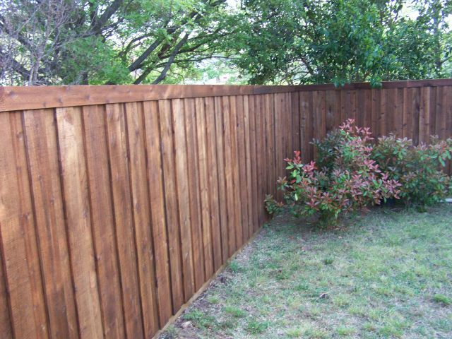 Board on Board Cedar Fence Grade Change