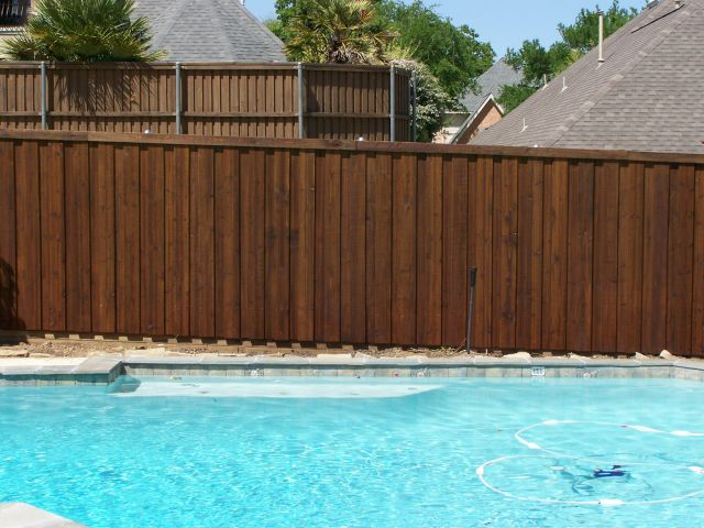 Board on Board Cedar Fence Pool