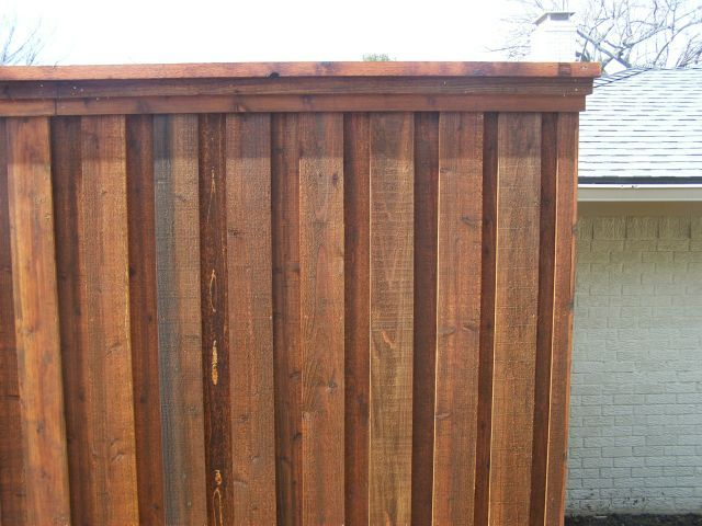 Board on Board Cedar Fence