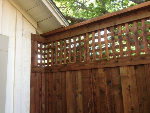 Board On Board Gate Fence Lattice Screen Top
