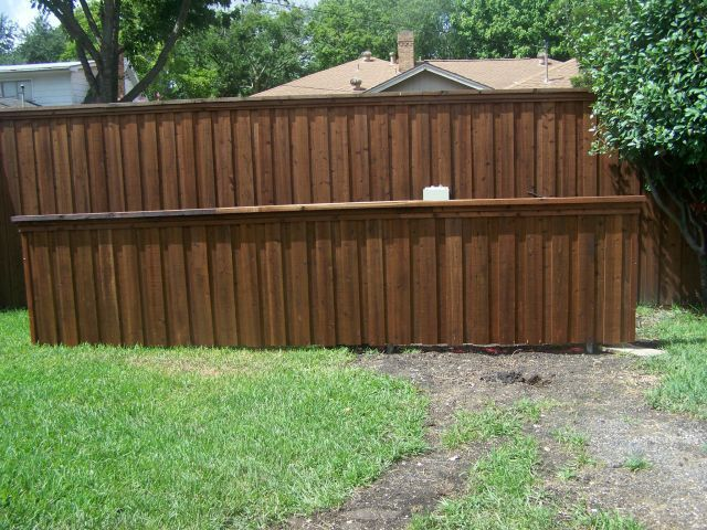 Board on Board Vertical Cedar Fence