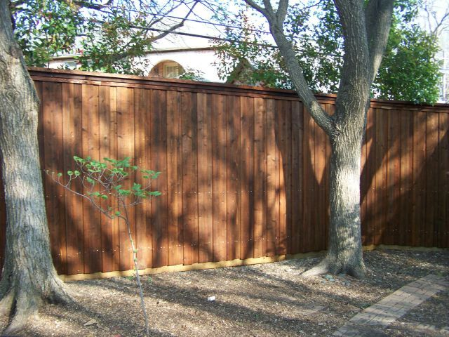 Cap Rail Board on Board Cedar Fence