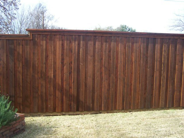 Cap Rail Board on Board Fence McKinney TX
