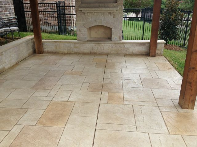 Patio Designs Flagstone Vs Concrete Texas Best Fence