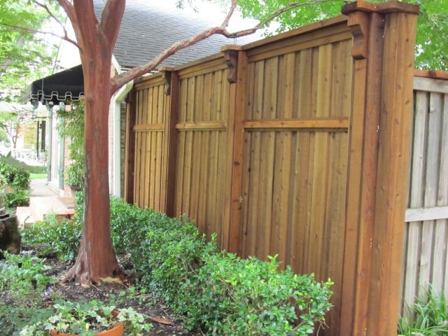 Decorative Column Board on Board Fence Plano TX