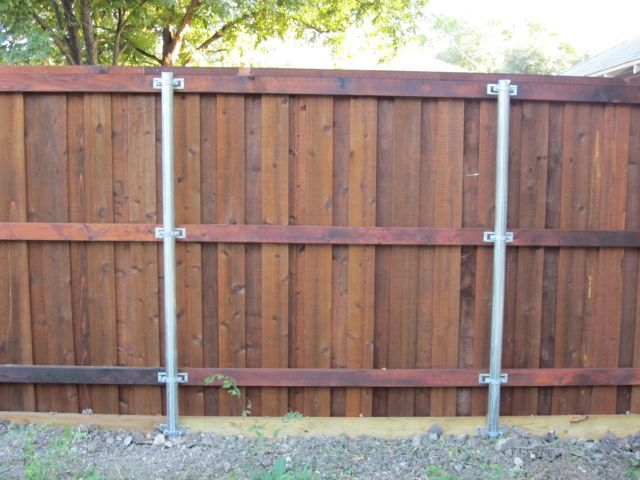 Decorative Flat Arch Board on Board Fence Plano TX