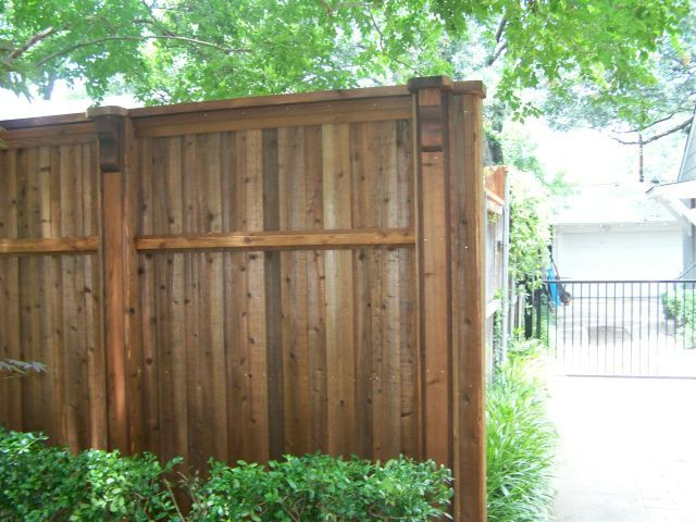 Decorative Front Board on Board Cedar Fence