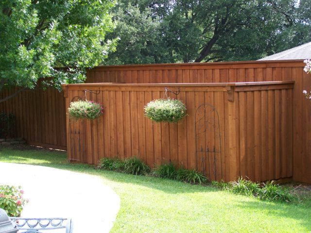 Matching Short Privacy Screen Board On Board Fence