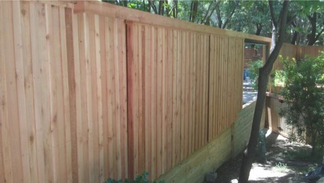 New Raised Deck Standard Board On Board Fence
