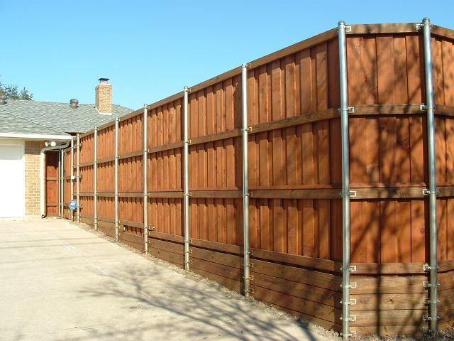 Standard Board on Board Fence Metal Posts