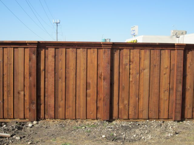 Wide Column Cap Rail Board On Board Fence
