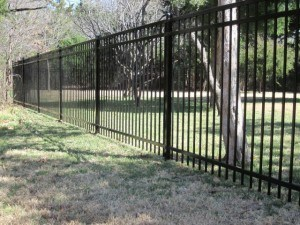 iron fence - wrought iron fence around yard space