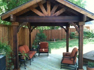 outdoor features year round - stand alone patio cover with outdoor furniture