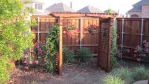 patio cover - small pergola with flowers