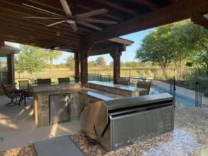 outdoor living year round - outdoor kitchen