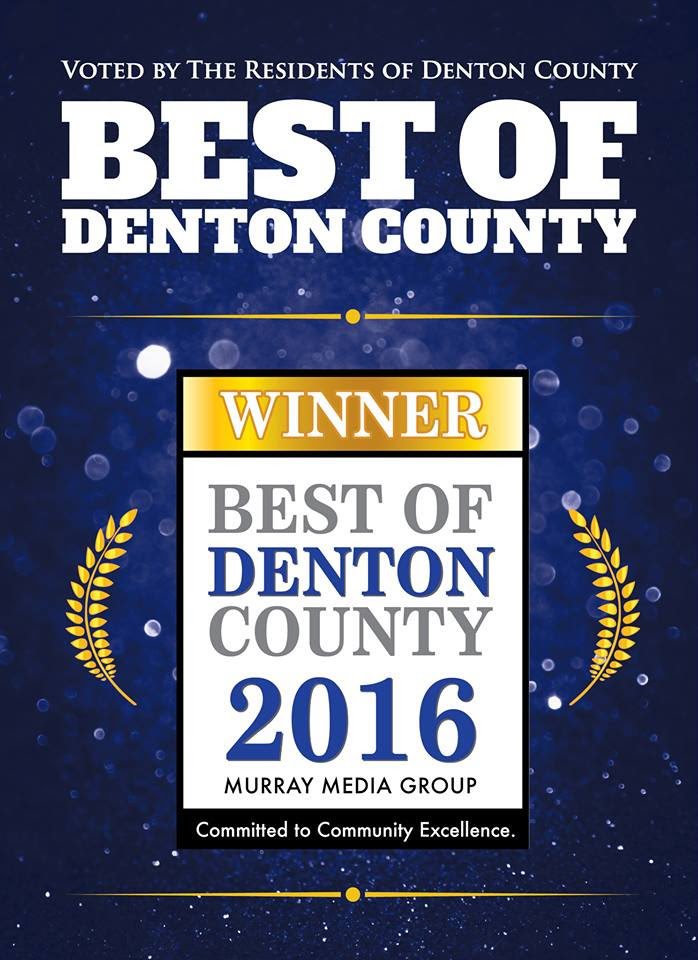 best of denton county - best of denton county 2016 winner award