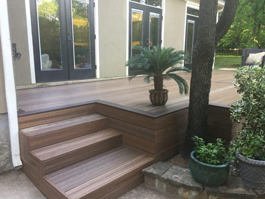 Composite Decking - composite deck with palm tree