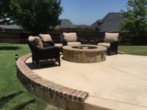 outdoor fire pit - stone fire pit with seating area