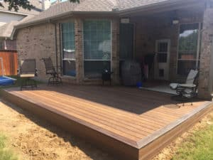 composite decking - square composite deck