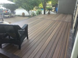 Composite Decking - composite deck with outdoor furniture
