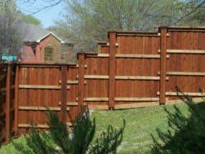 hardscape maintenance - wood fence