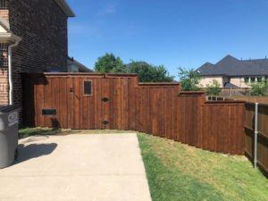 hardscapes - wood fence with new dark stain