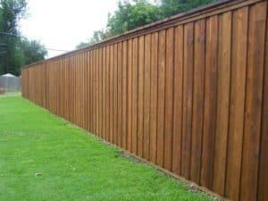 wood fence - wood fence clear of debris