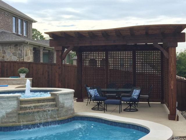 patio cover - pergola next to pool